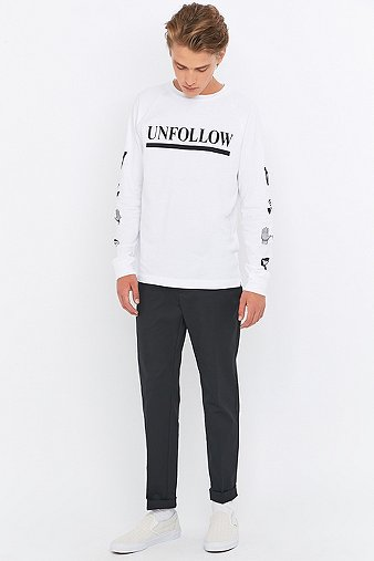 Wood wood tristan cropped black trousers urban outfitters - Bon de reduction urban outfitters ...