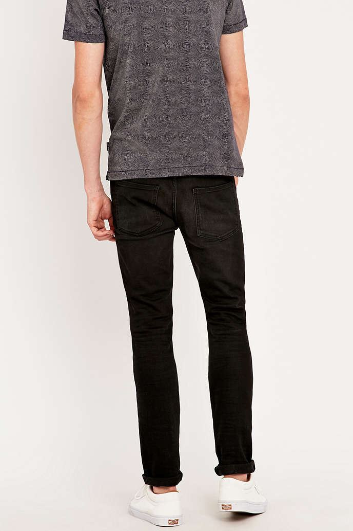 Loom Rollins Washed Black Slim Fit Jeans - Urban Outfitters