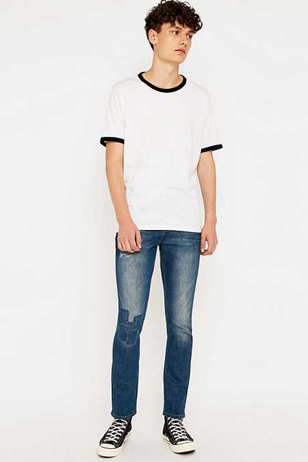 Loom Rollins Patch Blue Slim Fit Jeans