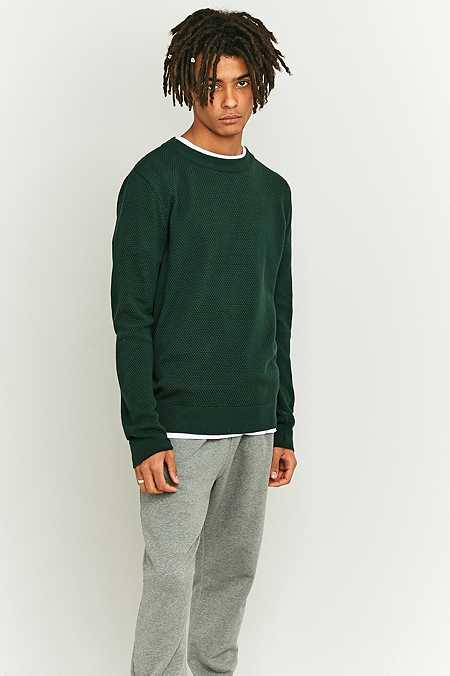 Shore Leave by Urban Outfitters - Pull ras du cou texturé vert sapin