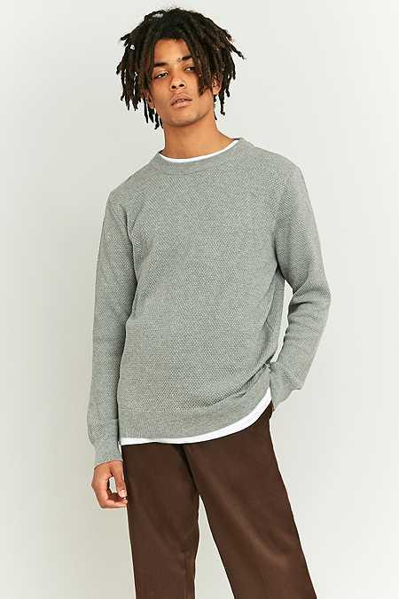 Shore Leave by Urban Outfitters - Pull ras du cou texturé gris