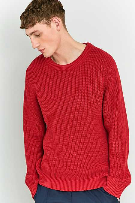 Shore Leave by Urban Outfitters - Pull style pêcheur en tricot rouge
