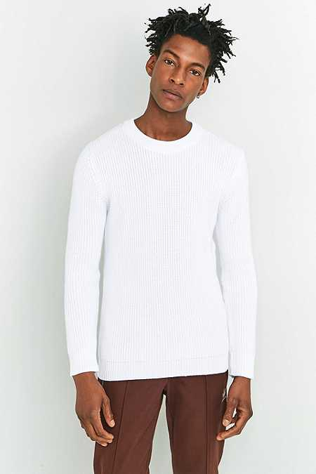 Shore Leave by Urban Outfitters - Pull style pêcheur en maille blanc