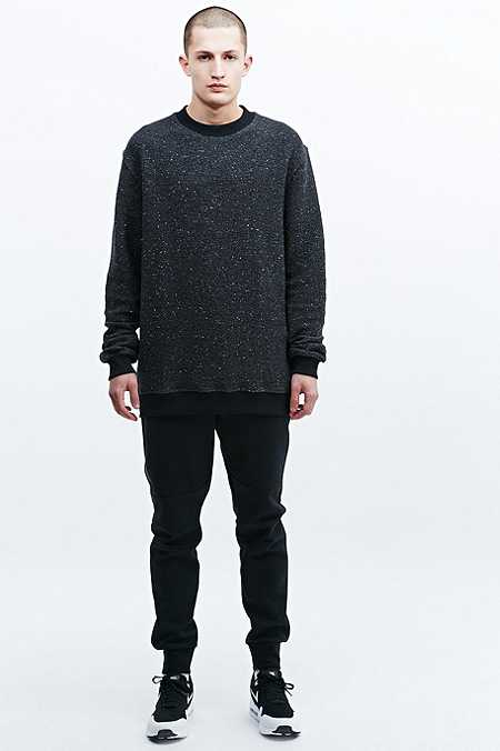 Blood Brother Anti-Texture Knit Sweatshirt in Black
