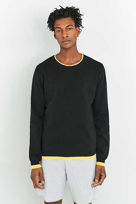 Shore Leave by Urban Outfitters - Pull noir à bordures contrastantes