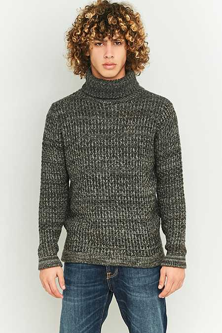 Shore Leave by Urban Outfitters Charcoal Twist Roll Neck Jumper