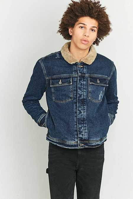 Loom - Veste Pioneer en jean à col en mouton