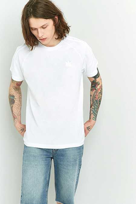 adidas - T-shirt California en coton piqué blanc