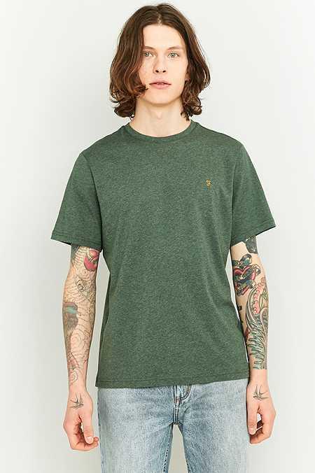 Farah - T-shirt Denny vert chiné
