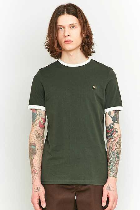 Farah - T-shirt Groves vert et ivoire