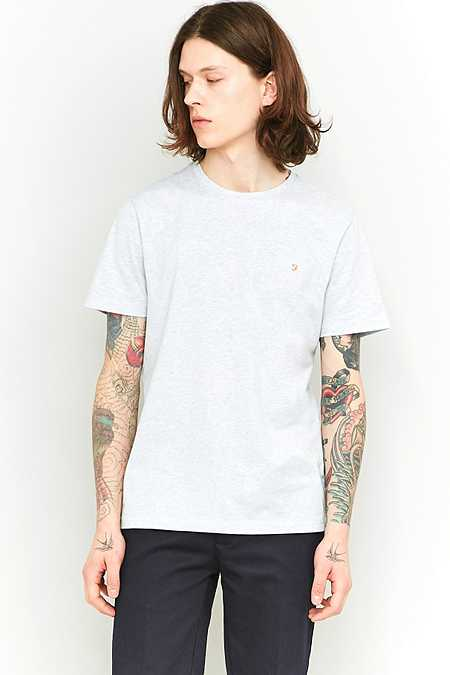 Farah - T-shirt Denny bleu ciel chiné