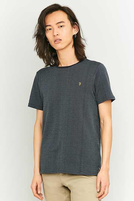 Farah - T-shirt Lawrence texturé bleu marine