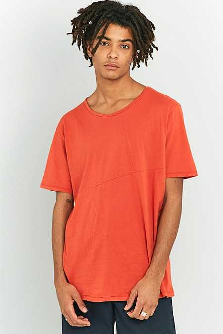 Nudie Jeans Ove Patchwork Blood Orange T-shirt