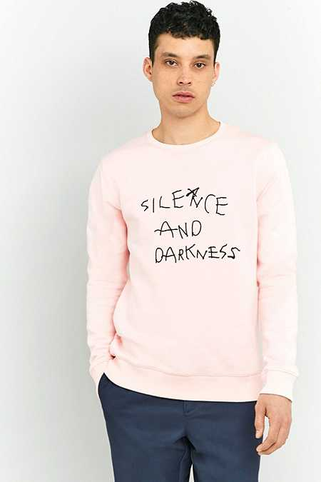 Soulland Silence and Darkness Pink Embroidered Sweatshirt
