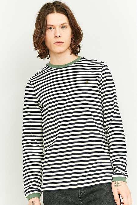 Farah - T-shirt manches longues Ally à rayures bleu marine