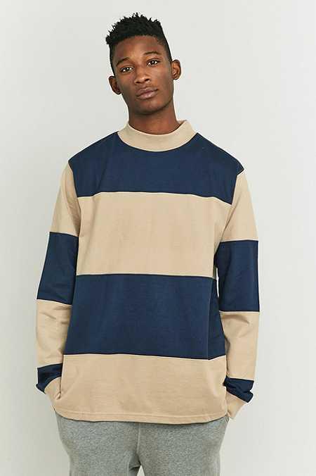 Stussy - T-shirt à larges rayures kaki