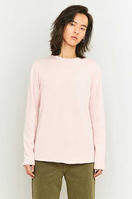 Edwin Garment - T-shirt à manches longues en éponge rose