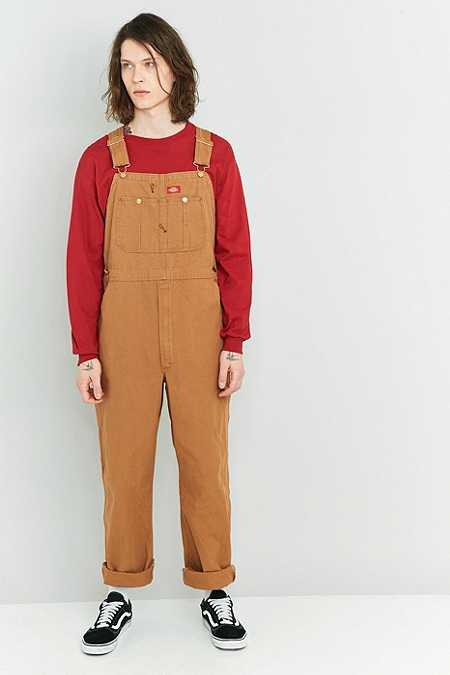 Dickies Brown Duck Bib Overalls
