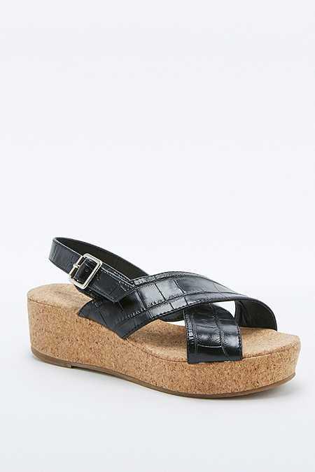 Chaussures compensées Careen noires à brides croisées