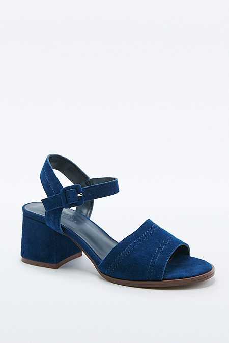 Chaussures Mia bleu marine à talons et surpiqûres