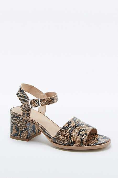 Mia - Chaussures motif serpent à talons et surpiqûres