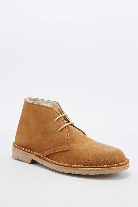Bottines chukka Pepper beiges avec doublure en fourrure