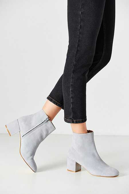 Thelma Grey Suede Ankle Boot
