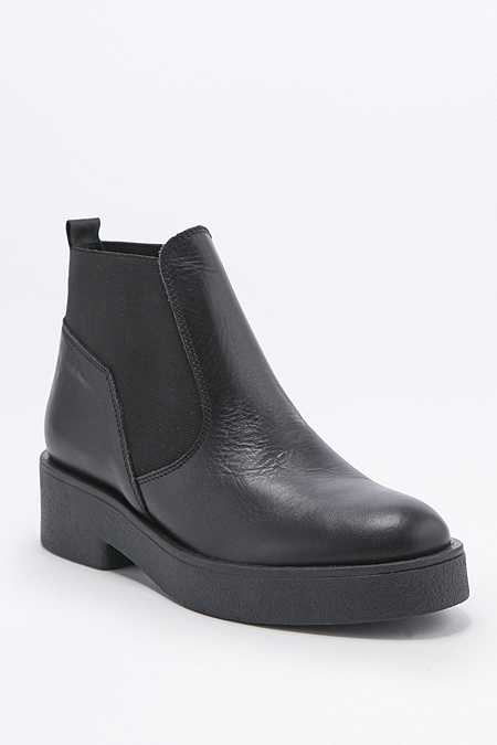 Nicola Black Leather Chelsea Ankle Boots