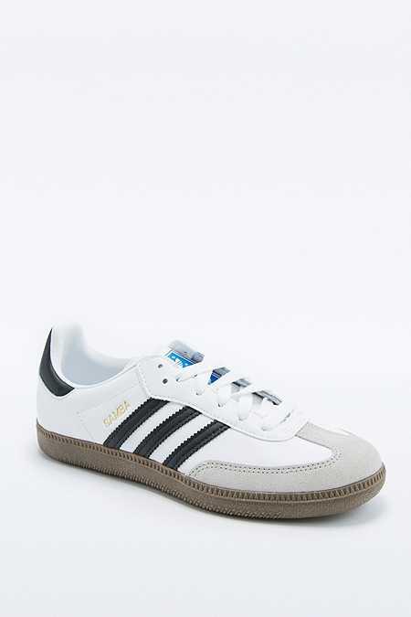 adidas Originals - Baskets Samba blanches avec semelle en gomme