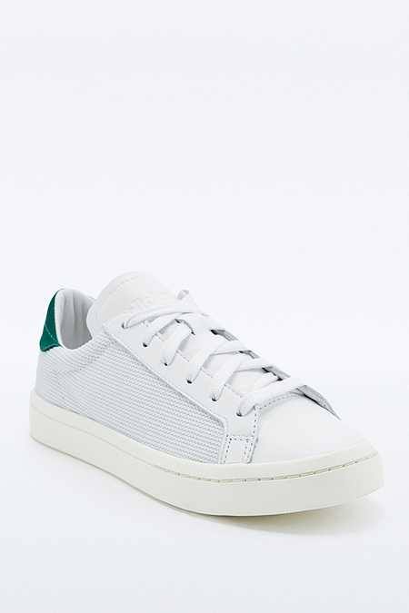 adidas Originals - Baskets Court Vantage en nubuck blanches et vertes