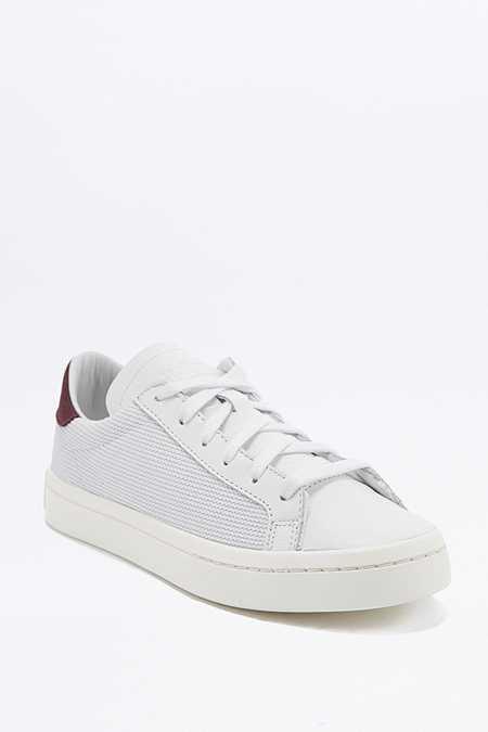 adidas Originals - Baskets Court Vantage blanches et bordeaux