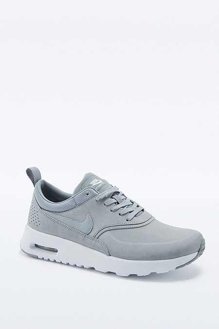 Nike Air Max - Baskets en cuir gris Thea