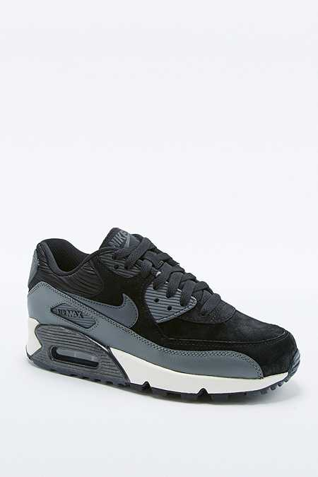 Nike - Baskets Air Max 90 en cuir noir