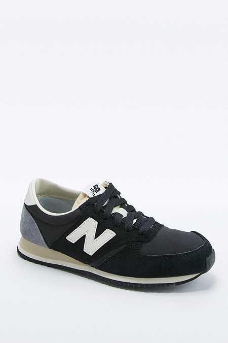 New Balance - Baskets 420 en daim noir