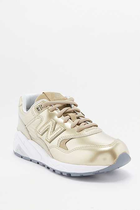"New Balance – Metallic-Sneaker ""580"" in Gold"