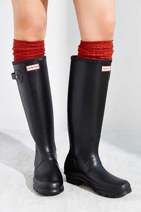 Hunter Original Tall Black Wellies