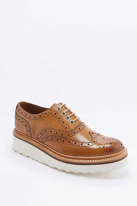 Grenson - Chaussures Richelieu Emily à lacets fauve