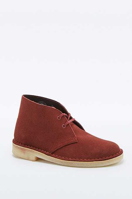 Clarks Maroon Desert Boots
