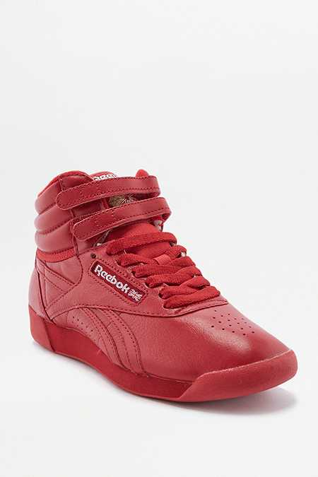 Reebok Freestyle Red High Top Trainers