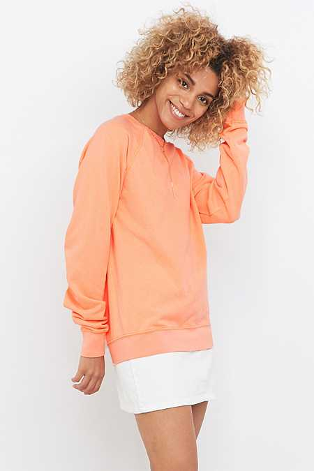 Urban Renewal Vintage Customised Orange Bleached Sweatshirt