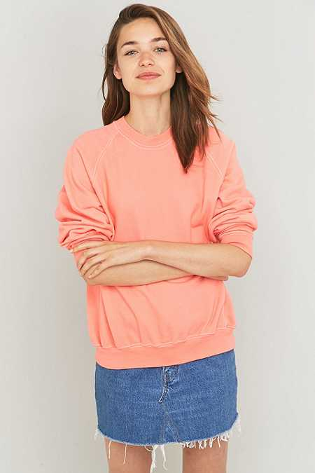 Urban Renewal Vintage Customised Coral Overdyed Sweatshirt
