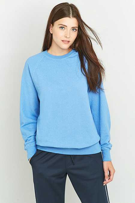 Urban Renewal Vintage Customised Overdyed Cornflower Blue Sweatshirt