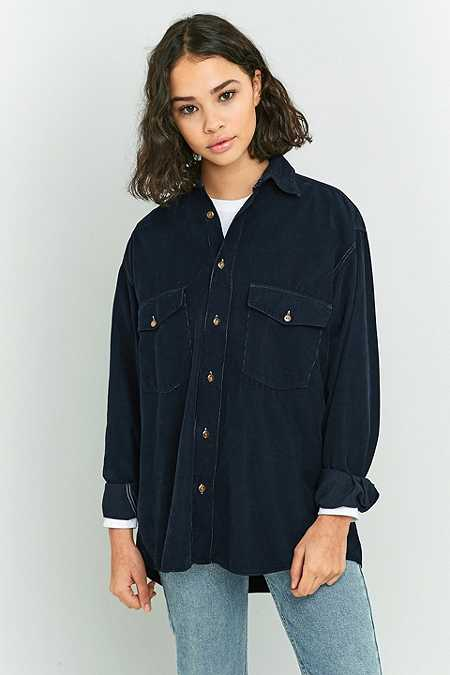 Urban Renewal Vintage Originals Navy Corduroy Shirt