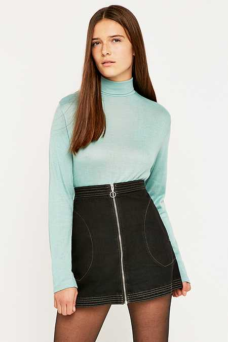 Urban Renewal Vintage Surplus Green Acrylic Turtleneck Jumper