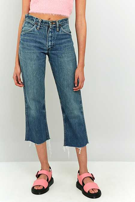 Urban Renewal Vintage Customised Wrangler Cropped Jeans