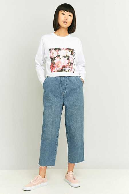 Urban Renewal Vintage Originals Cropped Blue Denim Trousers