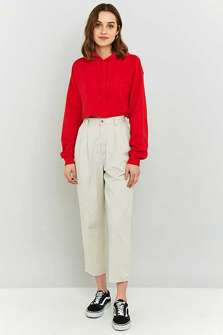 Urban Renewal Vintage Originals Stone Cropped Chino Trousers