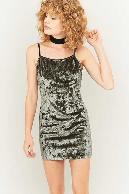 Urban Renewal Vintage Remnants Grey Marble Velvet Cami Dress