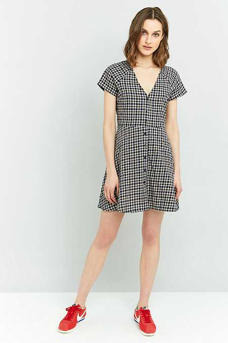 Urban Renewal Vintage Remnants Checked Flippy Dress