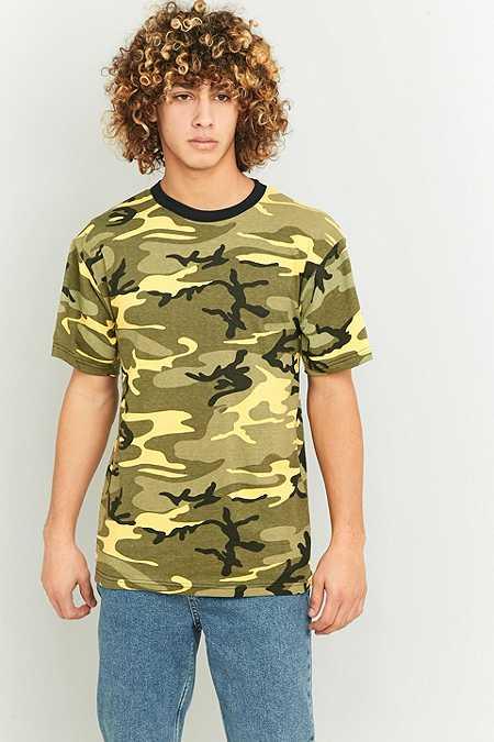 Urban Renewal Vintage Surplus - T-shirt jaune Stinger camouflage